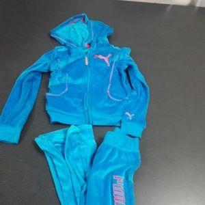 Girls medium PUMA matching jacket & pants